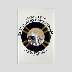Agility Shetland Sheepdogs Jump Rectangle Magnet