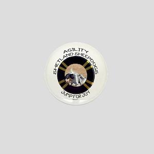 Agility Shetland Sheepdogs Jump Mini Button