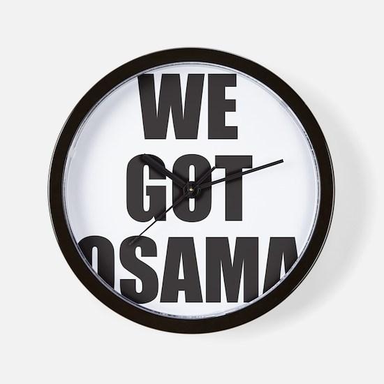 We_Got_Osama Wall Clock