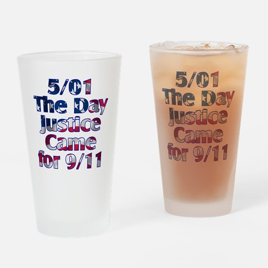 501 day justice for 911 Drinking Glass