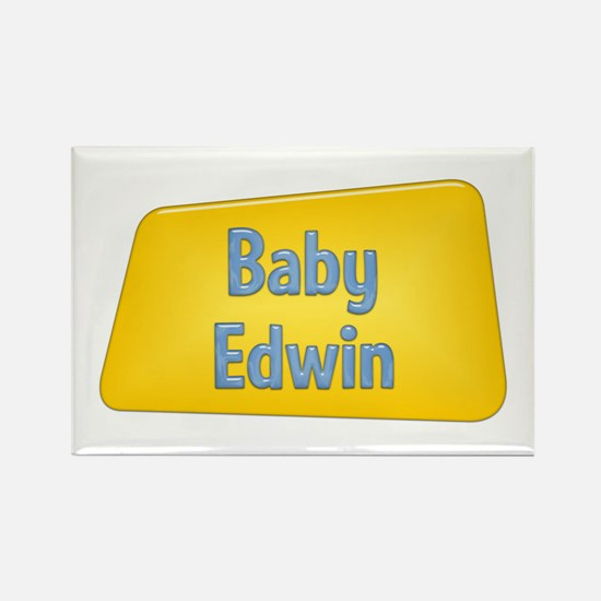 Baby Edwin Rectangle Magnet