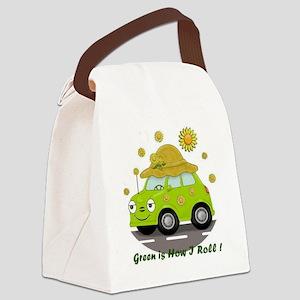 honey white Canvas Lunch Bag