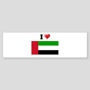 I love United Arab Emirates F Bumper Sticker