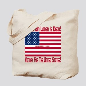 osama_bin_laden_is_dead_dark_red_transpar Tote Bag
