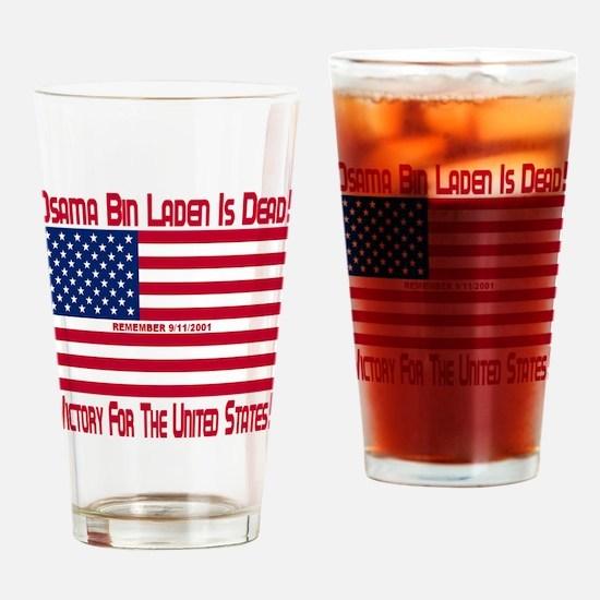osama_bin_laden_is_dead_dark_red_tr Drinking Glass