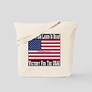 Osama_bin_laden_is_dead_Style2_black Tote Bag