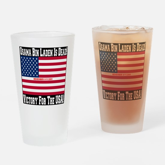 Osama_bin_laden_is_dead_Style2_blac Drinking Glass