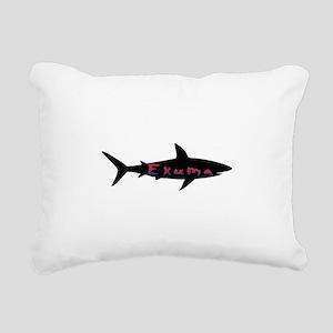 Exuma Bahamas Shark Rectangular Canvas Pillow