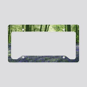English Bluebells License Plate Holder