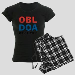 OBL DOA 3c white Women's Dark Pajamas