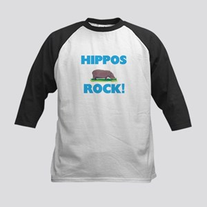 Hippos rock! Baseball Jersey