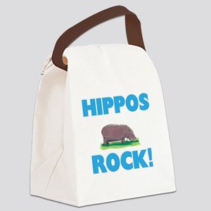 Hippos rock! Canvas Lunch Bag