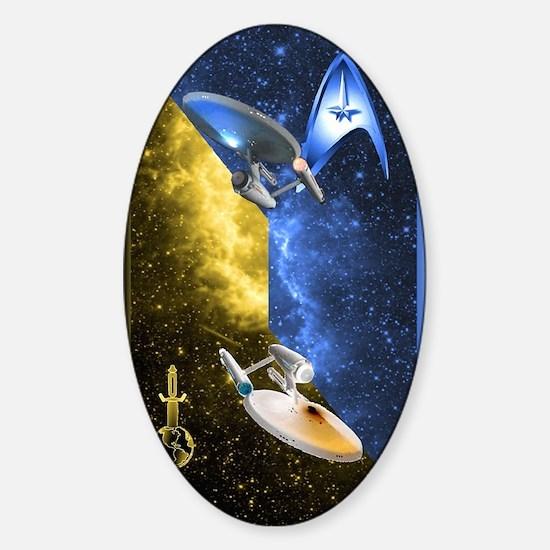 Mirror Universe Sticker (Oval)