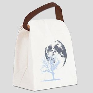 deadtree_NOTEXT_dark Canvas Lunch Bag