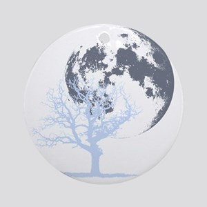 deadtree_NOTEXT_dark Round Ornament