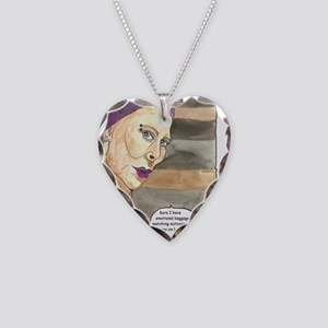 Sure I have emotional baggage Necklace Heart Charm