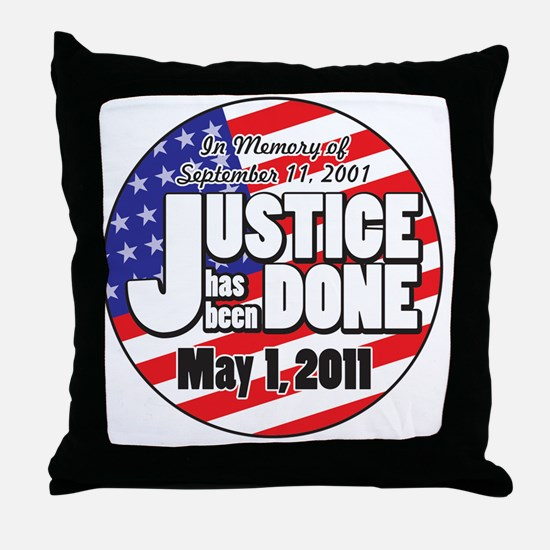 Justice_Has_Been_Done Throw Pillow