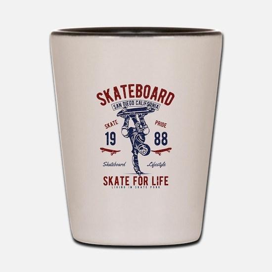 Skateboard Shot Glass