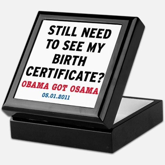 BirthCertificate_small Keepsake Box