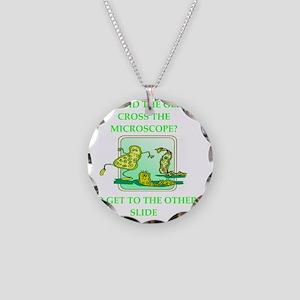 GERM joke Necklace Circle Charm