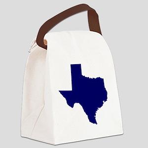 Texas - Blue Canvas Lunch Bag