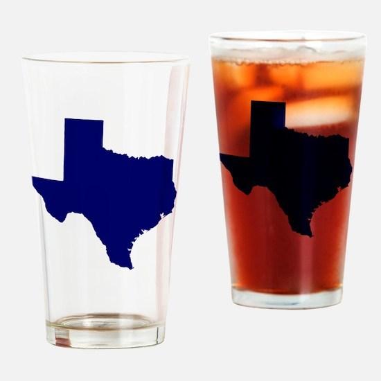 Texas - Blue Drinking Glass