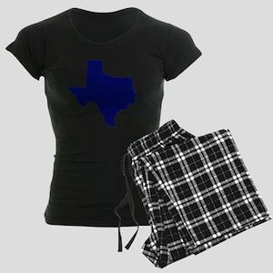 Texas - Blue Women's Dark Pajamas