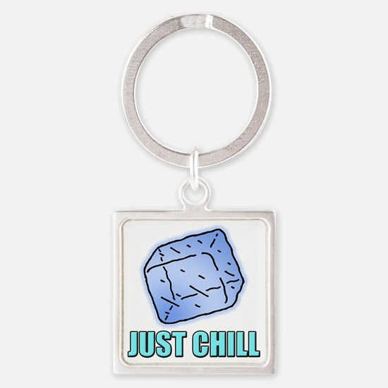 Just Chill Square Keychain