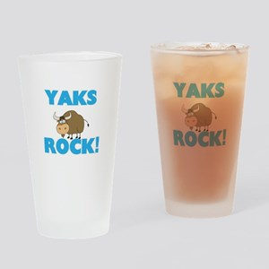 Yaks rock! Drinking Glass