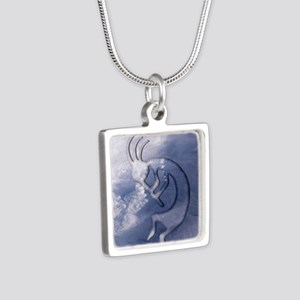 Kokopelli Wind Iphone 4G Silver Square Necklace