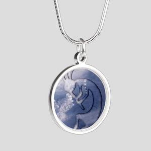 Kokopelli Wind Iphone 4G Silver Round Necklace