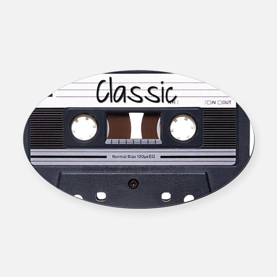 classic-cassette-tape Oval Car Magnet