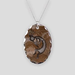 Kokopelli Stone Iphone 4G Necklace Oval Charm