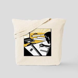 architectural draftsman at work drafting  Tote Bag