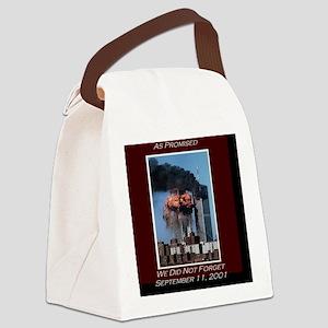 WeNotForget911LRG Canvas Lunch Bag