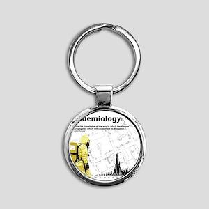 Epidemiology Round Keychain