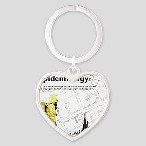Epidemiology Heart Keychain