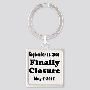 Osama_closure Square Keychain