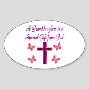BEST GRANDDAUGHTER Sticker (Oval)