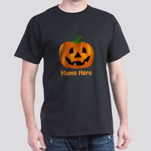 Customized Pumpkin Jack O Lantern Dark T-Shirt