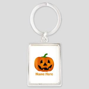 Customized Pumpkin Jack O Lanter Portrait Keychain