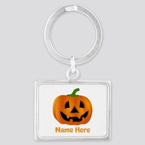 Customized Pumpkin Jack O Lante Landscape Keychain