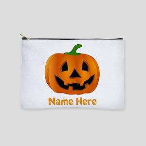 Customized Pumpkin Jack O Lantern Makeup Pouch
