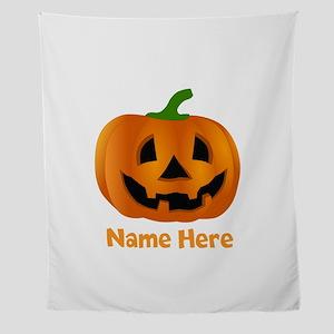 Customized Pumpkin Jack O Lantern Wall Tapestry