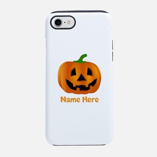 Customized Pumpkin Jack O Lant iPhone 7 Tough Case