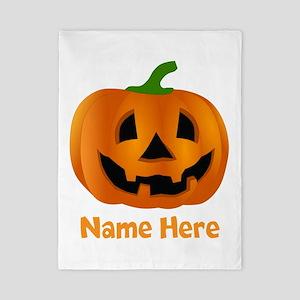 Customized Pumpkin Jack O Lantern Twin Duvet Cover