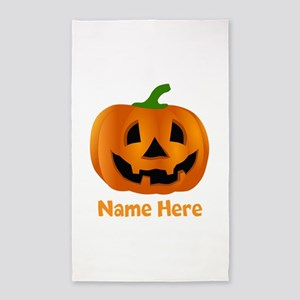 Customized Pumpkin Jack O Lantern Area Rug
