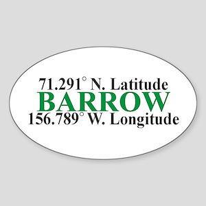 Barrow Lat-Long Oval Sticker