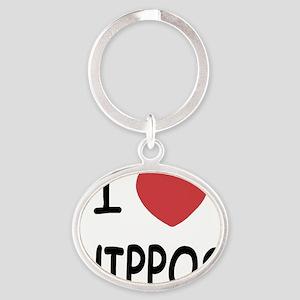 HIPPOS Oval Keychain