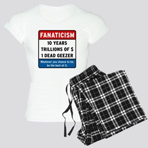 Fanaticism_white_big Women's Light Pajamas